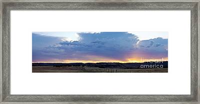 Upper Park Sunrise Framed Print by Richard Verkuyl