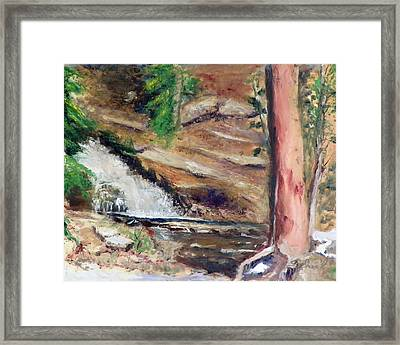 Framed Print featuring the painting Upper Provo River Falls by Sherril Porter