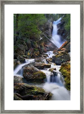 Framed Print featuring the photograph Upper Race Brook Falls 2017 by Bill Wakeley