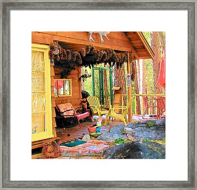 Upper Rim Rock Deck Framed Print