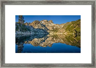 Upper Sardine Lake Panorama Framed Print