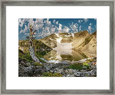 Upper Skytop Lake Framed Print by Leland D Howard