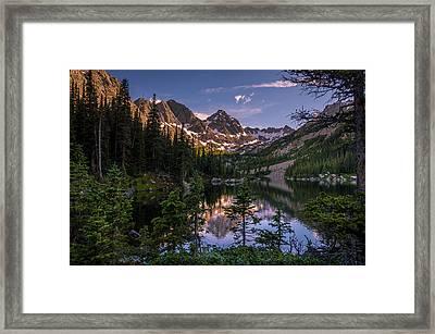 Upper Slate Lake Evening Glow Framed Print