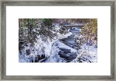 Upper Taughannock Winter Framed Print by Mark Papke