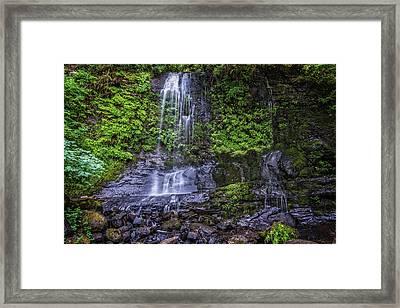 Upper Terrace Falls Framed Print by Joe Hudspeth