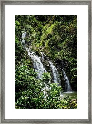 Upper Waikani Falls Framed Print