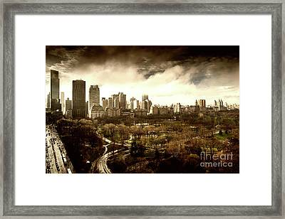 Upper West Side Of New York In Spring Framed Print