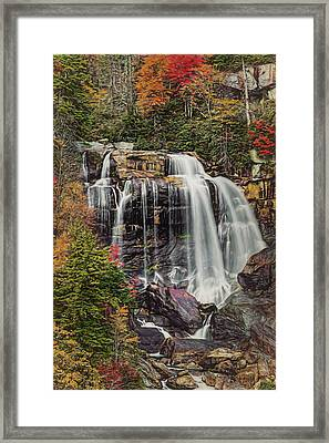 Upper Whitewater Falls North Carolina Framed Print by Bellesouth Studio