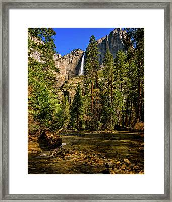 Upper Yosemite Falls From Yosemite Creek Framed Print