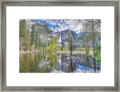 Framed Print featuring the photograph Upper Yosemite Falls In Spring by Scott McGuire
