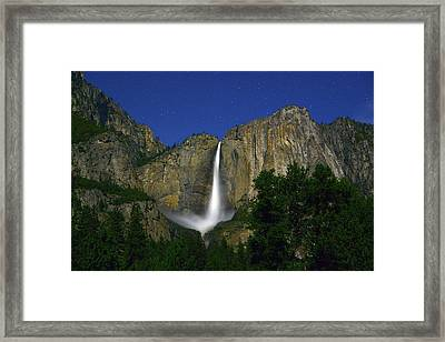 Upper Yosemite Falls Under The Stairs Framed Print