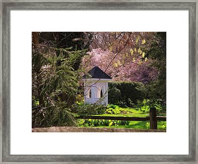 Upperville Gazebo Framed Print