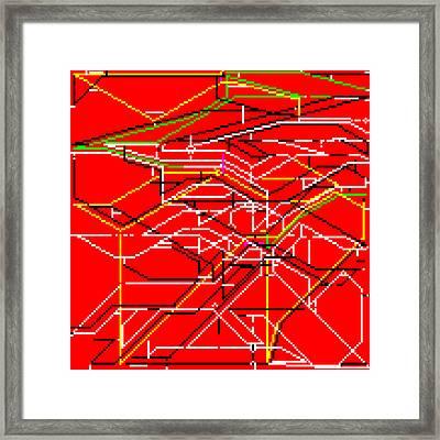 Uprdwfbi Framed Print by Qq Qqq