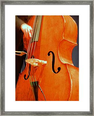 Upright Bass 3 Framed Print