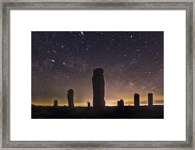 Upright Stones Framed Print