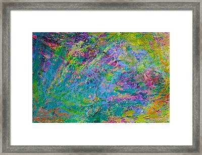 Framed Print featuring the painting Uprising Color Poem by Polly Castor