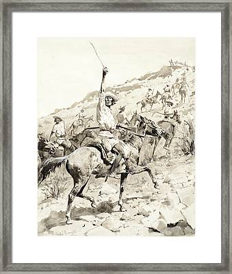 Uprising Of The Yaqui Indians Framed Print