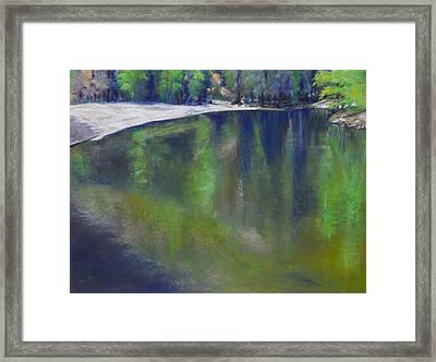 Upriver View Framed Print