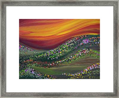 Framed Print featuring the painting Ups And Downs by Ashley Price