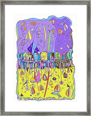 Upside Down Garden Framed Print by Linda Kay Thomas