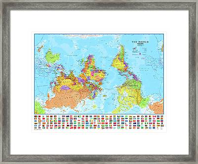 Upside Down Map Perspective Framed Print