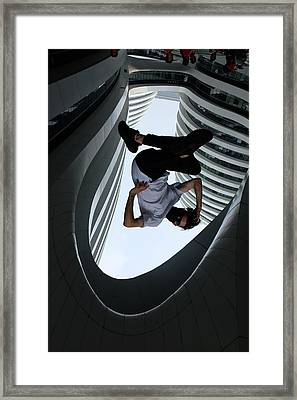 Framed Print featuring the photograph Upside Down by Obie Platon
