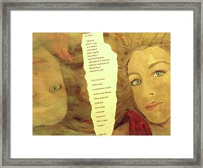 Upside Down Reality Framed Print by Made by Marley