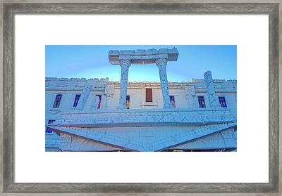 Upside Down White House Framed Print