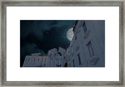 Upside Down White House At Night Framed Print