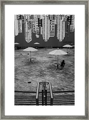 Upside Downtown Framed Print