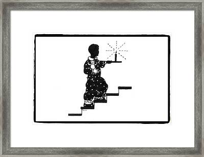 Upstairs To Bed Framed Print by Patricia Montgomery