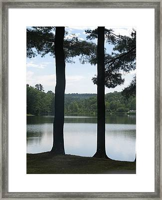 Upstate Lake Framed Print by Alexis Lape