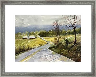 Upstate Landscape Framed Print by Judith Levins