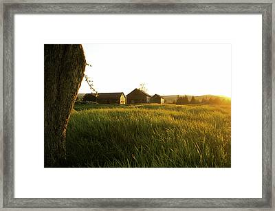Upstate Ny Farm Framed Print