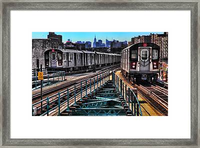 Uptown And Downtown Framed Print by June Marie Sobrito