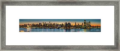 Framed Print featuring the photograph Uptown And Midtown At Sunrise by Francisco Gomez