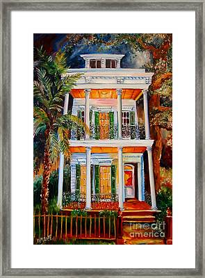 Uptown At Night Framed Print by Diane Millsap