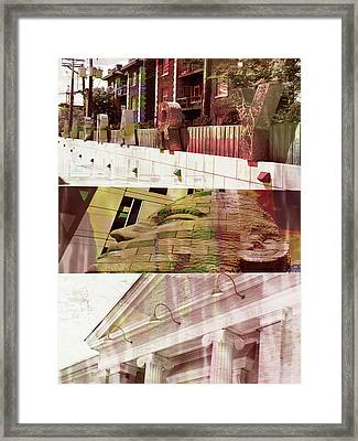 Framed Print featuring the photograph Uptown Library With Color by Susan Stone