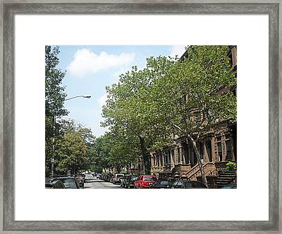Framed Print featuring the photograph Uptown Ny Street by Vannetta Ferguson