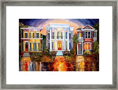 Uptown Tonight Framed Print by Diane Millsap