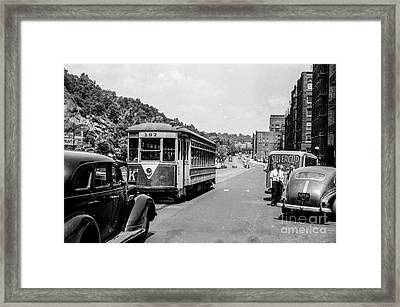 Framed Print featuring the photograph Uptown Trolley Near 193rd Street by Cole Thompson