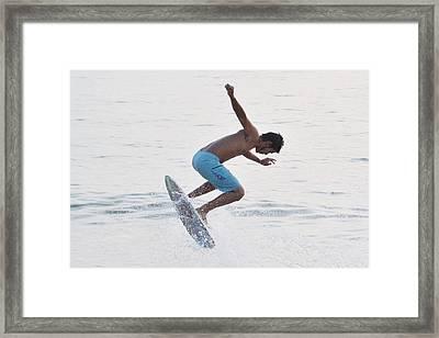Upward Framed Print by Don Columbus