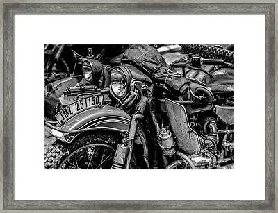 Framed Print featuring the photograph Ural Patrol Bike by Anthony Citro