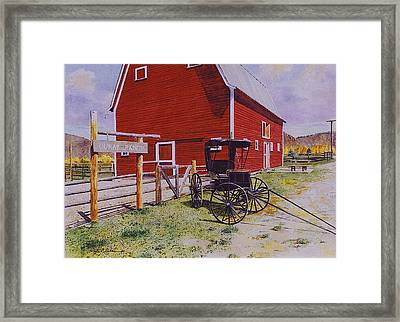 Ouray Ranch Framed Print