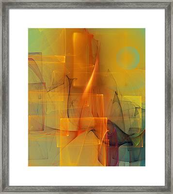 Urban  Abstract 062411 Framed Print by David Lane