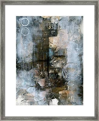 Urban Abstract Cool Tones Framed Print