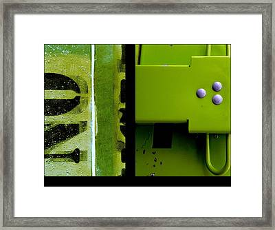 Urban Abstracts Seeing Double 40 Framed Print