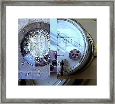 Urban Abstracts Seeing Double 58 Framed Print