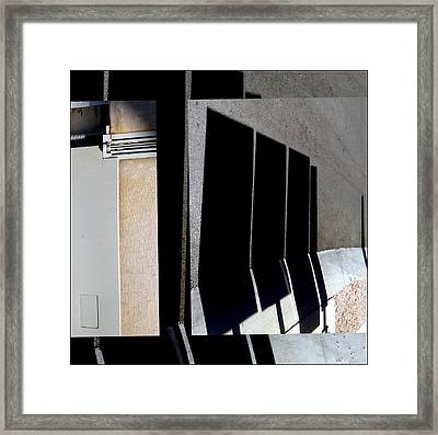 Urban Abstracts Seeing Double 64 Framed Print