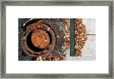 Urban Abstracts Seeing Double 71 Framed Print